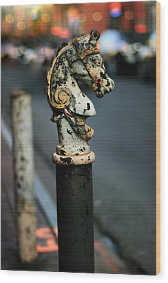 Wood Print featuring the photograph Hitching Post #1 by Heather Green