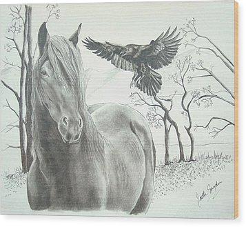 Hitch'n A Ride Wood Print