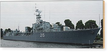 Hmcs Haida Twin Gun Tribal Class Destroyer  Wood Print