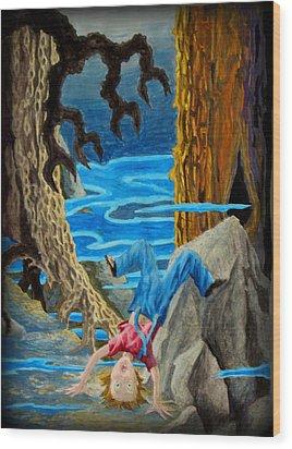 Wood Print featuring the painting Hmmmmm by Matt Konar