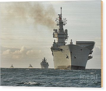 Hms Ark Royal  Wood Print by Paul Fearn