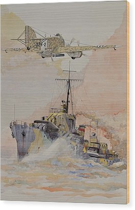 Hms Ashanti Wood Print by Ray Agius