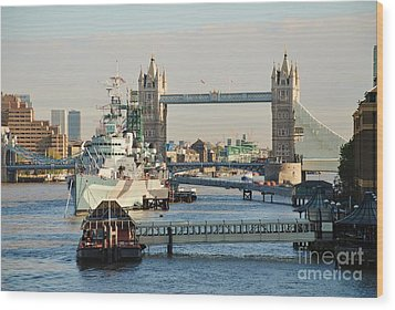 Hms Belfast London Wood Print