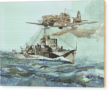 Hms Ledbury Wood Print by Ray Agius