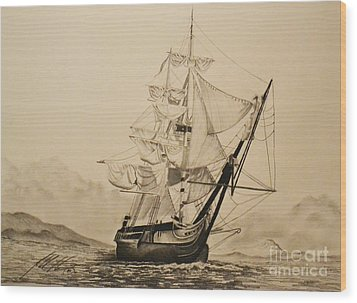 Hms Surprise Wood Print by John Huntsman