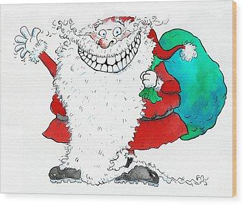 Ho Ho Ho Wood Print by Maylee Christie