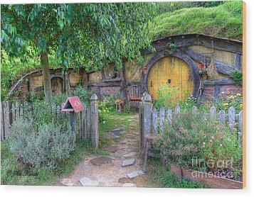Hobbit Hole 2 Wood Print
