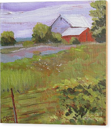 Hobbs Farm Wood Print by Charlie Spear