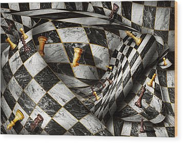 Hobby - Chess - Your Move Wood Print by Mike Savad