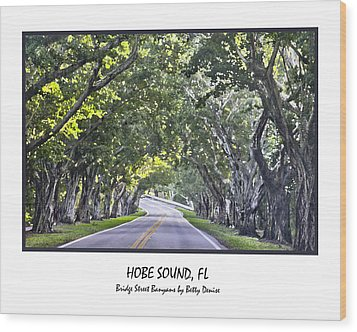 Hobe Sound Fl-bridge Street Banyans Wood Print by Betty Denise