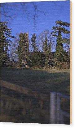 Hockering Church Wood Print by Dave Woodbridge