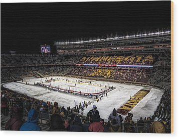Hockey City Classic Wood Print by Tom Gort