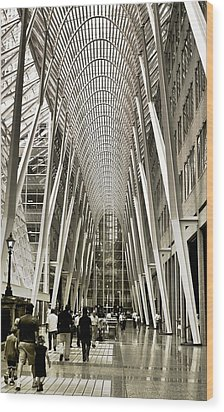 Hockey Hall Of Fame - Galleria Wood Print by Carson Buzdegan