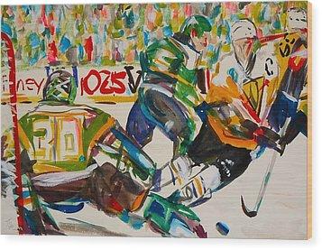Hockey Wood Print by Troy Thomas