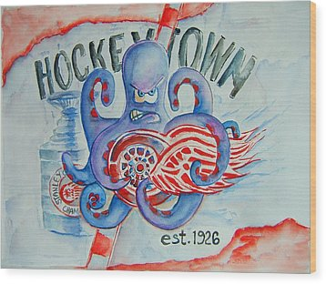 Hockeytown Wood Print