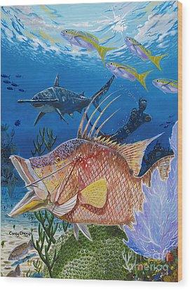 Hog Fish Spear Wood Print by Carey Chen
