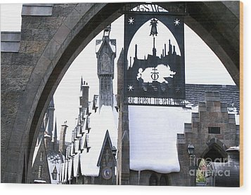 Hogsmeade Sign Wood Print