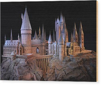 Hogwarts Castle Wood Print by Tanis Crooks