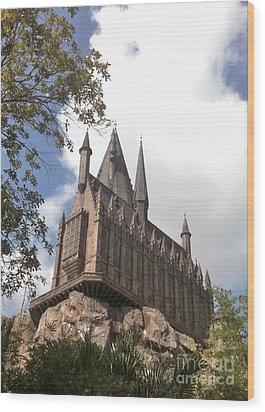 Hogwarts On High Wood Print
