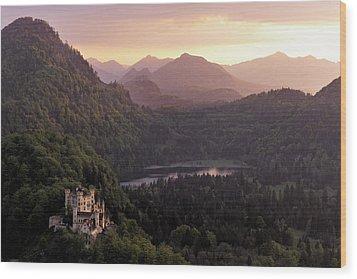 Hohenschwangau Castle Wood Print by Francesco Emanuele Carucci