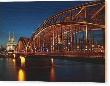 Wood Print featuring the photograph Hohenzollern Bridge by Mihai Andritoiu