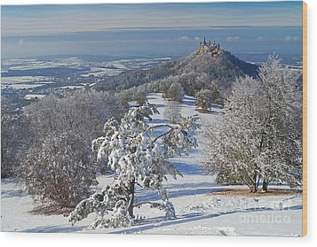 Wood Print featuring the photograph Hohenzollern Castle 2 by Rudi Prott