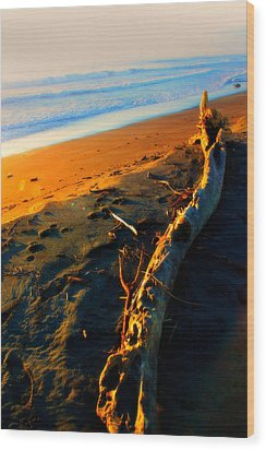 Wood Print featuring the photograph Hokitika Beach New Zealand by Amanda Stadther