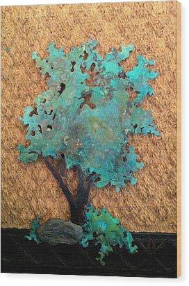Hokkidachi Copper Bonsai Wood Print by Vanessa Williams