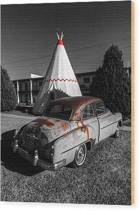 Holbrook Az - Wigwam Motel 007 Wood Print by Lance Vaughn