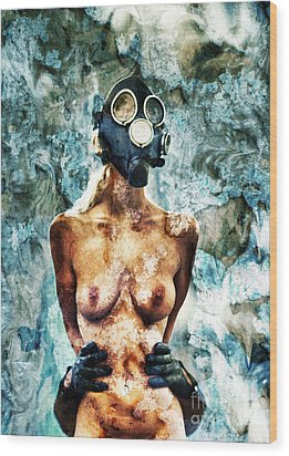 Hold Me If I M Dying 1 Wood Print by Stelios Kleanthous