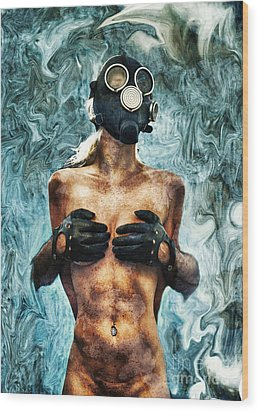 Hold Me If I M Dying 2 Wood Print by Stelios Kleanthous