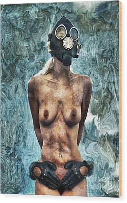 Hold Me If I M Dying 3 Wood Print by Stelios Kleanthous