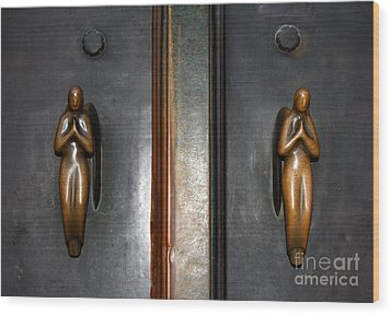 Holding Angels Wood Print by Linda Prewer