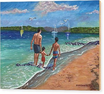 Holding Hands Wood Print by Laura Forde