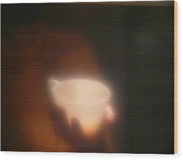 Holding The Light Wood Print by Evelyn Tambour
