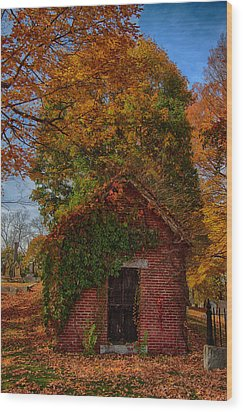 Wood Print featuring the photograph Holding Up The  Fall Colors by Jeff Folger
