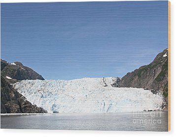 Holgate Glacier Wood Print by Russell Christie