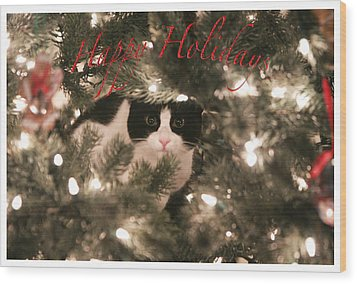 Holiday Card Wood Print by Shoal Hollingsworth