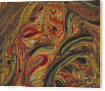 Holiday Colors Wood Print by Jackie Bodnar