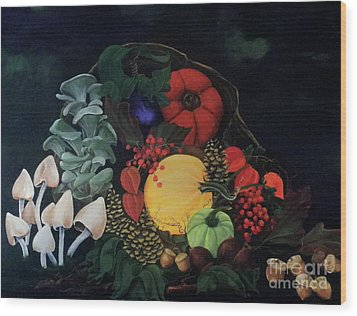 Holiday Harvest Wood Print by D L Gerring