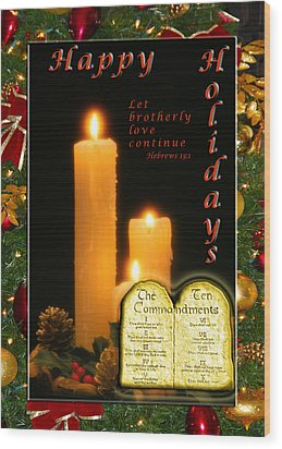 Holiday Love Declaration Wood Print by Terry Wallace
