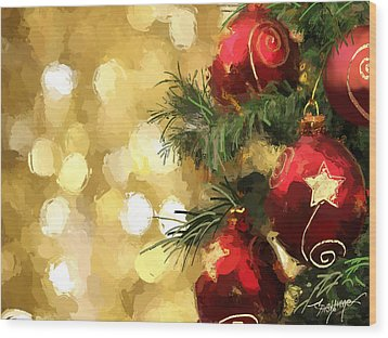 Holiday Ornaments Wood Print