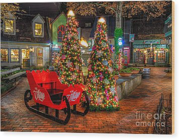 Cristmas In The Smokies Wood Print