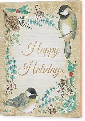 Holiday Wishes II Wood Print