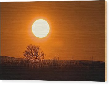 Hollister Idaho Spring Sunset Wood Print