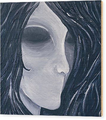 Hollow Wood Print by Monica Veraguth