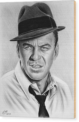 Hollywood Collection Ole Blue Eyes Wood Print by Andrew Read