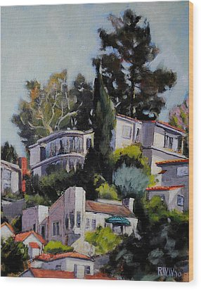 Hollywood Hills Wood Print
