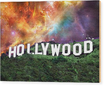 Hollywood - Home Of The Stars By Sharon Cummings Wood Print by Sharon Cummings