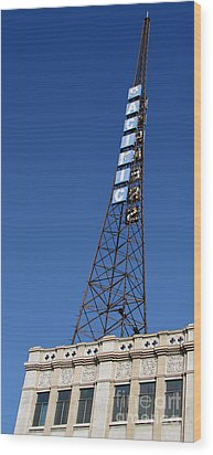 Hollywood Pacific Theatre Tower Wood Print by Gregory Dyer